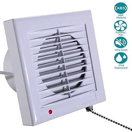 YUN Clock@ Ventilador Extractor de baño Aire 5\'\'/120 mm Silencioso con válvula Anti Retorno,240 m3/h,Ideal para baño,Cocina,Inodoro,Oficina,silencioso, bajo Consumo 16W
