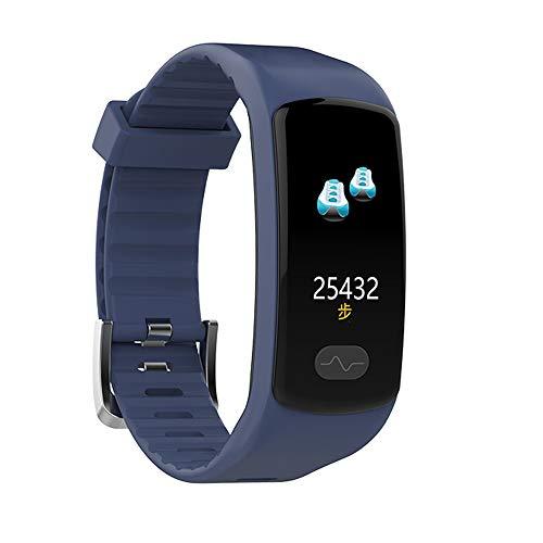 LDDCUTE Activiteit armband, ECG + PPG Smart Armband met Hartslagmeter Armband en Hartritme Monitoring Waterdichte Activiteit Monitor IP67 Klok Fitness Stappenteller voor, Blauw