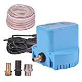 Swimming Pool Cover Submersible Pump 1200 GPH Water Removal Drain Pumps for Above Ground Pool Hot Tub Cover Saver Pumps (Blue)