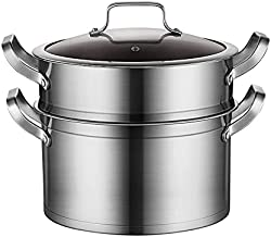 Multipots Pasta Pots Stainless Steel Pasta Pot with Steamer Stainless Steel Steamer Pot Set Cooking Pot 26CM (Number of la...