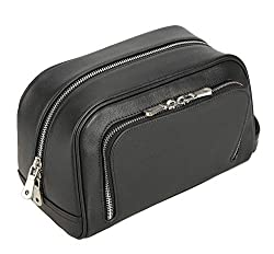 Polare Vintage Calfskin Leather Travel Toiletry Bag