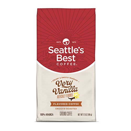 Seattle's Best Coffee Very Vanilla Flavored Medium Roast Ground Coffee, 12-Ounce Bags