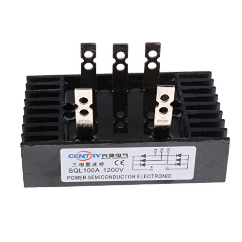harayaa Rectificadores 3 Phase Diode Bridge 100A 1200V SQL100A Accessories Black