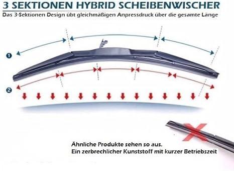 650 350 2x Wischergummi Scheibenwischer Gummis Ersatz Kompatibel Mit Bosch Aerotwin Scheibenwischer Inion 2x Ersatzgummi 650mm 350mm Auto