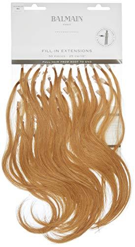 Balmain Lot de 50 extensions de cheveux humains - 25 cm de long - 9G - Blond doré très clair - 13 g