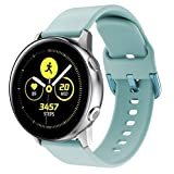 Glebo 20mm Wacth Band Compatible with Samsung Galaxy Watch 42mm /Active 2 40mm 44mm /Active 40mm Band,Men Women Sport Silicone Wristband Strap for Galaxy Watch 3 41mm/ Gear Sport Smartwatch,Lignt Blue