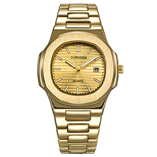 Winkey Herren Uhr, Edelstahl-Luxuxmann-Mode-Nautilus-analoge Sport-Quarz-Armbanduhr Geschenk