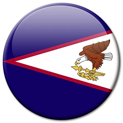 Koelkastmagneet Amerikaanse Samoa vlaggen magneet landen reizen souvenir vlag voor koelkast sterk groot 50 mm