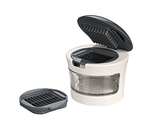 Lurch 221430 Knoblauchschneider aus Kunststoff und Edelstahl, Iron Grey/Weiߟ