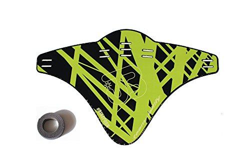 JOllify Carbon Mud Guard Fender für MTB Mountainbike – CARBON BEDRUCKT LIME - #515