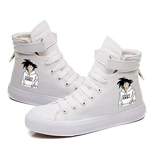 WOONN Anime Dragon Ball Goku White High Gang Zapatillas De Deporte para Hombre Zapatillas...