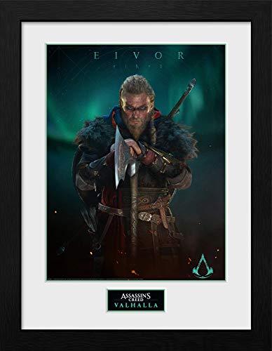 Assassin's Creed - Valhalla Eivor - Gerahmter Kunstdruck | 30 x 40 cm | Originales Merchandise