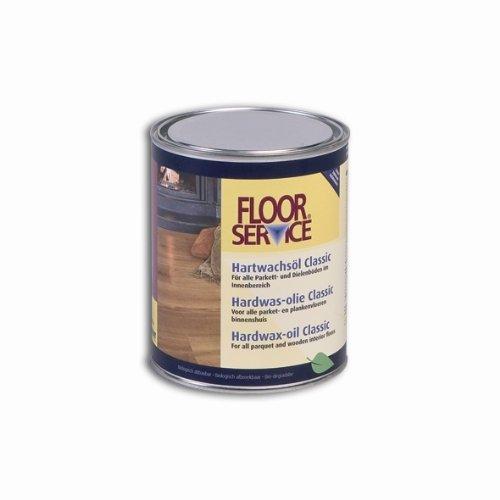 Overmat Industries B.V. 33301 Floorservice Hartwachsöl Classic seidenmatt 1000 ml, natur
