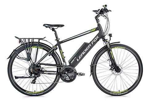 28 Zoll Alu LEADER FOX E-Bike Elektro Fahrrad Trekking Pedelec Herren 36V 16Ah schwarz grün