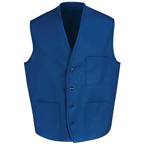 Red Kap Chef DesignsButton Front Vest, Royal Blue, Medium