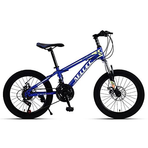 20 Pulgadas 21 Velocidades Bici Infantiles Bicicletas NiñOs,Bicicleta MontañA Todoterreno NiñOs/Frenos Doble Disco/SillíN Elevable Y Transpirable/Apto para NiñOs 120-145cm