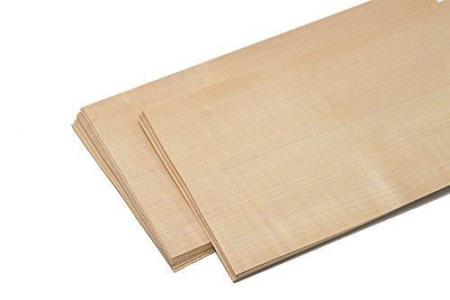 15-17 Furniere in der Holzart Birke. Furnier geeignet für: Modellbau, Ausbesserungsarbeiten, Restauration, zum Basteln, Intarsien
