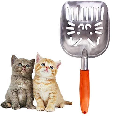 letuxiashop - Pala para arena de gato, fabricada en metal, fuerte y duradero Pala para gatos, pala para animales domésticos, pala para aseo de gatos, adecuado para gatos de mascotas, etc.
