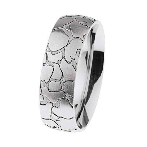Ernstes Design R662 48-71 - Anello in acciaio INOX satinato con incisione, larghezza: 6,5 mm