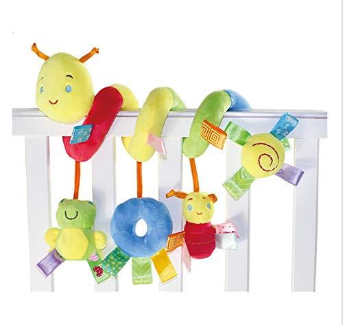 Spirale Bett Kinderwagen Spielzeug, Mobile Baby Kinder Twisty Spirale Cartoon Spielzeug Geschenke,Kleinkind Baby Aktivität pädagogische Plüschtier Plüschtier
