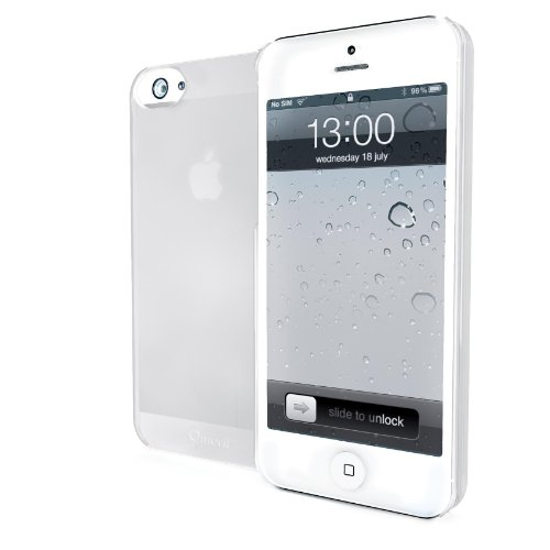 Muvit iMatt Ultra Thin iPhone 5 Cover case Color blanco - fundas para teléfonos móviles
