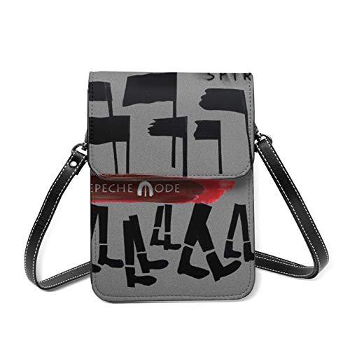 Depeche Mode Damen Handytasche, Geldbörse, kleine Umhängetasche, Schultertasche mit Touchscreen, transparent
