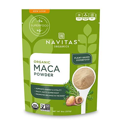 Navitas Organics Maca Powder, 8 oz. Bag, 45 Servings — Organic, Non-GMO, Low Temp-Dried Gluten-Free
