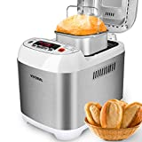VIVREAL Bread Maker, Automatic Breadmaker Machine 1.5LB, Home Bakery Pro 12 Menus