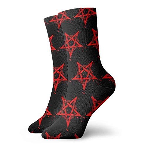 JONINOT Pentagram Wicca Symbol Calcetines de algodn informales deportivos esenciales para hombres Calcetines W8.5CM X L30CM
