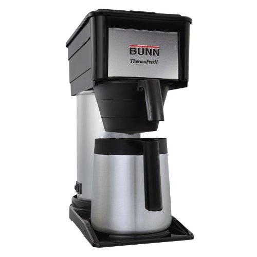Bunn Durable Black Btx-b 10 Cup Velocity Brew Thermal Carafe Coffee Maker Black