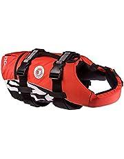 EzyDog Chaleco Salvavidas para Perros - DFD - Ideal para Natación y para que tu Cachorro esté Seguro en el Agua, Perros Seguridad Natación Ropa (M, Rojo)