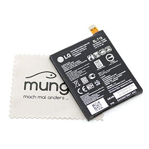 Batería para LG Original BL-T19 EAC63100001 para LG Nexus 5X con paño de Limpieza mungoo