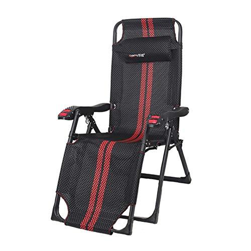 Dall Chaise Pliante Chaise Longue De Plein Air Portable Pliage Facile Adulte Bureau De Plage Chaise De Pause Déjeuner (Couleur : Noir)