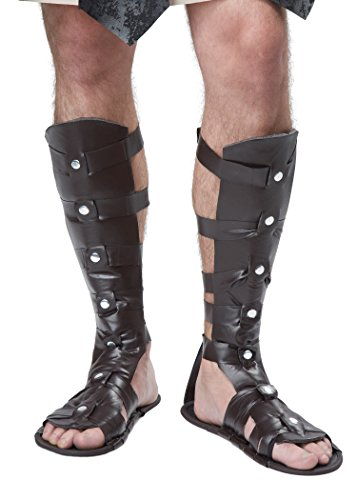 California Costumes Men's Gladiator Sandal, Brown, One Size