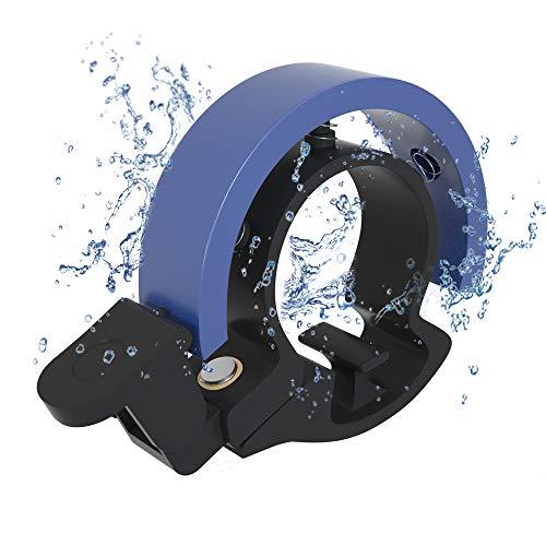 Meowtutu – Timbre para bicicleta, Q Bell alto y claro, para bicicleta de montaña, alarma, anillo para manillares de 22,2 – 23 mm, azul, 1 paquete