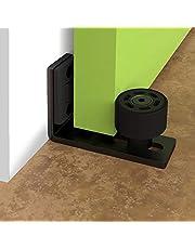 Schuifdeur vloergeleider, CCJH Verstelbare Vloergeleider Wand Voor Schuifdeursysteem, Deur Bodemgids Schuifschuur Deur Hardware Zwart