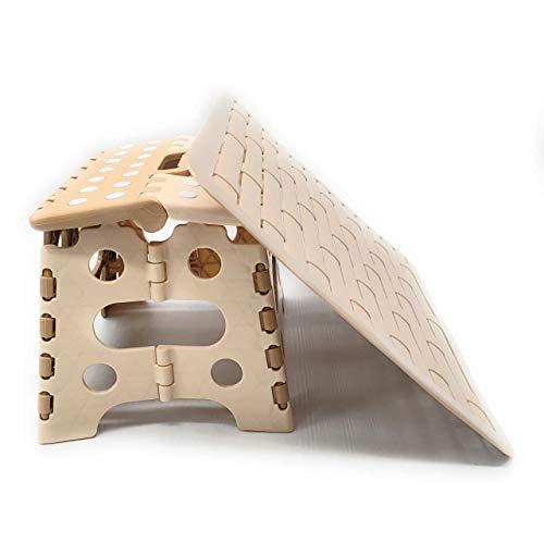SET 2 IN 1 : Sgabello pieghevole portatile + Tappetino scolapiatti in Bambù Senza BPA ► (beige)