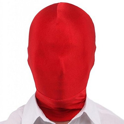 WESTLINK Zentai Mask 2nd Skin Hood Head Full Cover Lycra Spandex Red