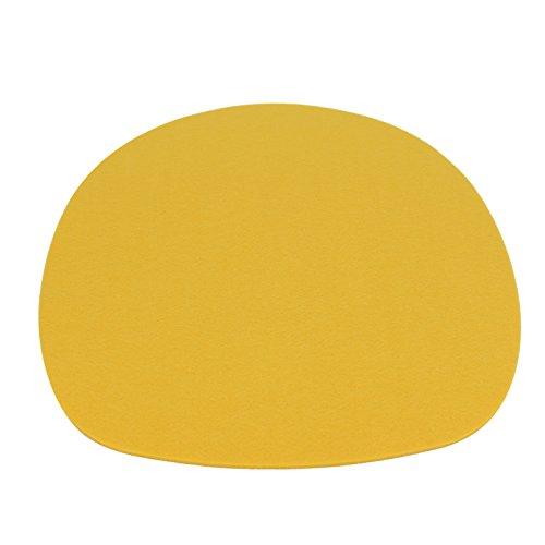 7even - Cuscino in feltro ovale da 4 mm, in feltro, ideale per molti classici Sidechairs (35,5 x 39, giallo)