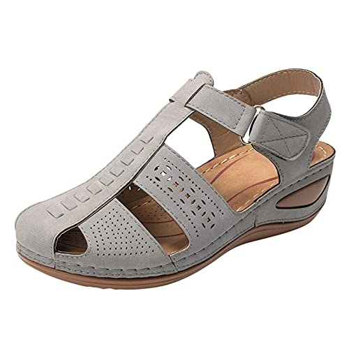 Platform Sandals Women Shoes Beach Shoes for Women Guess Wedges for Women Womens Slippers (Gray41,7.5)
