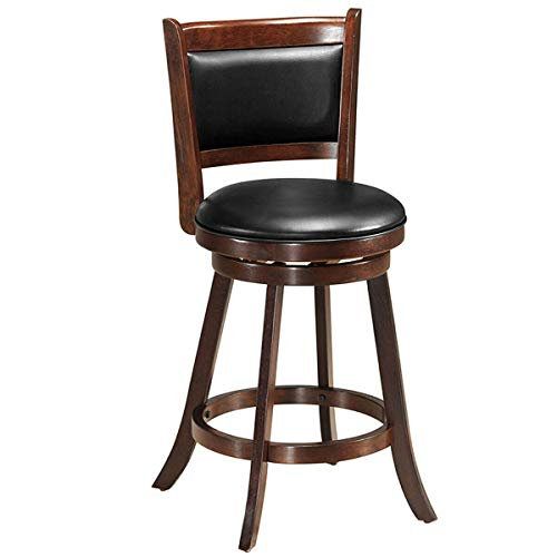 Costway 360 Degree Swivel Bar Stool