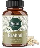 Brahmi Kapseln Bio - 150 Veggie Kapseln - 500mg pro Kapsel - Bacopa Monnieri - Gedchtnispflanze - vegan - ohne Zusatzstoffe - Abgefllt und kontrolliert in Deutschland (DE-KO-005)