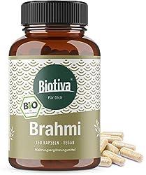BIO BRAHMI CAPSULES: La plante Brahmi est souvent désigné comme plante mémoire ou petite Fettblatt. Dans nos capsules Biobrahmi infectées 100% de poudre de la plus grande pureté de l'Inde. La plante provient d'une collection sauvage. AYURVEDA GUÉRISO...