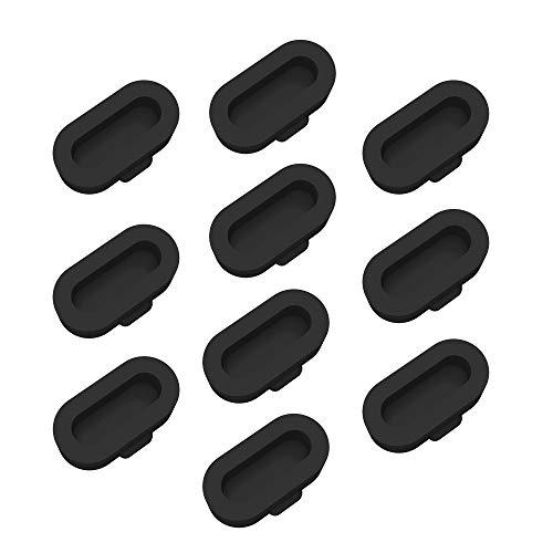 Tencloud Accessori compatibili con Garmin Vivoactive 4/Vivoactive 4S,Fenix 6/6S/6X/Venu/Forerunner 935, tappi antipolvere in silicone colorato (Nero)