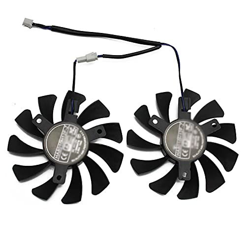 SRR Refrigeración de Tarjeta gráfica, GPU HA8010H12F-Z 75MM 2Pin Gtx1050ti, Ventilador Dual más frío, Fit for MSI Geforce GTX 1050Ti GTX-1050-Ti-4GT-OC, Ventilador Dual