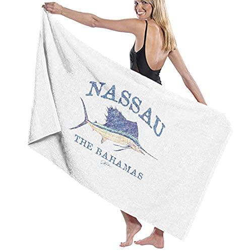 N\ Nassau, Las Bahamas, Vintage Sailfish (Distressed) Toalla de baño de secado rápido 🔥