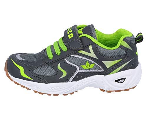 Lico Bob VS Unisex Kinder Sneaker, Anthrazit/ Lemon, 40 EU