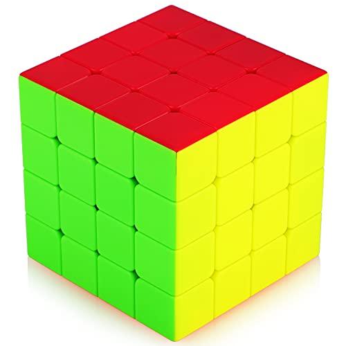 TOYESS Speed Cube 4x4 Stickerless, Cubo di Magico 4x4x4 Giocattolo Regalo Confezione per Bambini e Adulto