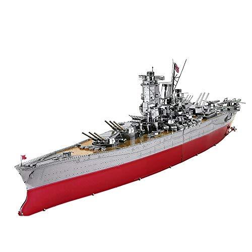 piececool YAMATO-245pcs Metal 3D Puzzle para adultos Battleship Metal Maqueta de construcción para adultos