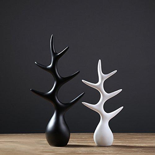 Creatieve abstracte Zwarte en witte Fortune boom Decoratie Wijnkast decoraties binnen woonkamer salontafel TV kast bureau Bruiloft Geschenken